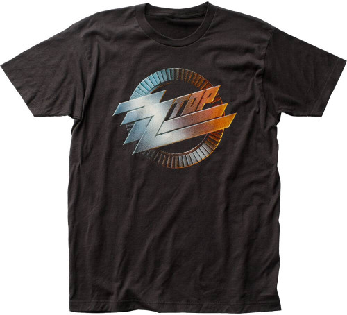 ZZ Top Album Cover Artwork T-shirt - ZZ Top Logo from Recycler Album Cover | Men's Black Shirt