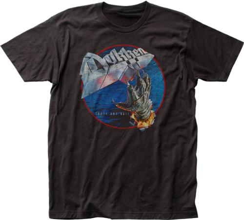 Dokken T-shirt - Dokken Tooth and Nail Album Cover Artwork | Men's Black Vintage Shirt