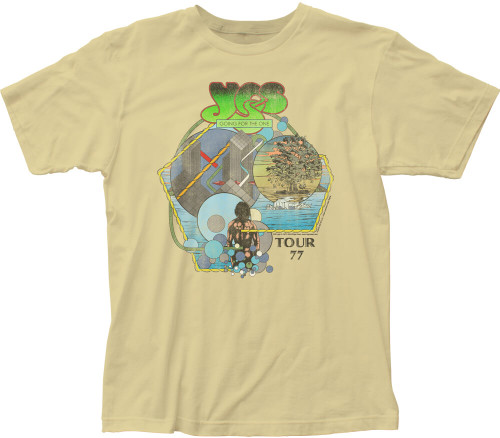 Yes Vintage Concert T-shirt - Yes Tour '77 | Men's Beige Shirt