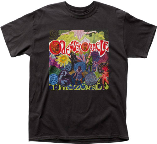 The Zombies T-shirt - The Zombies Odessey and Oracle Album Cover Artwork | Men's Black Shirt