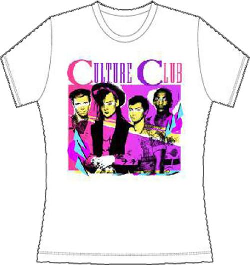 Culture Club T-shirt - Culture Club Band Drawing | Women's White Shirt