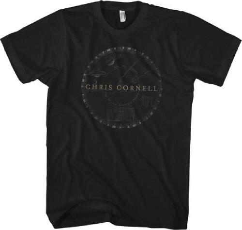 Chris Cornell T-shirt - Chris Cornell Solar System Logo. Men's Black Shirt