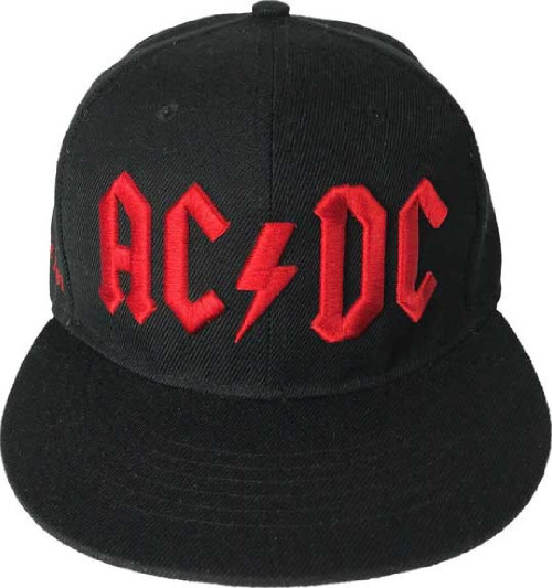 AC/DC Baseball Hat - ACDC Red Logo | Flatbill Hat