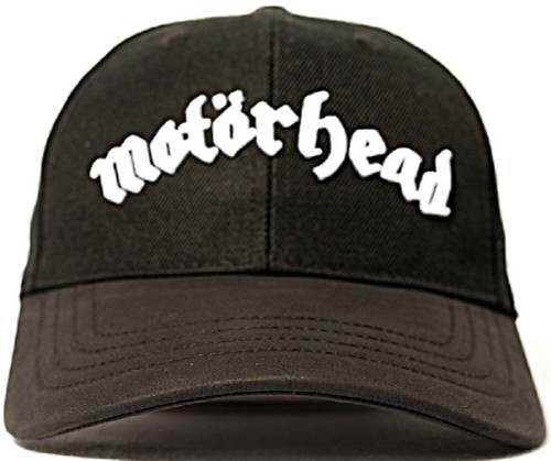 Motorhead Baseball Cap - Motorhead Logo | Black Wool-Blend and Leather Cap