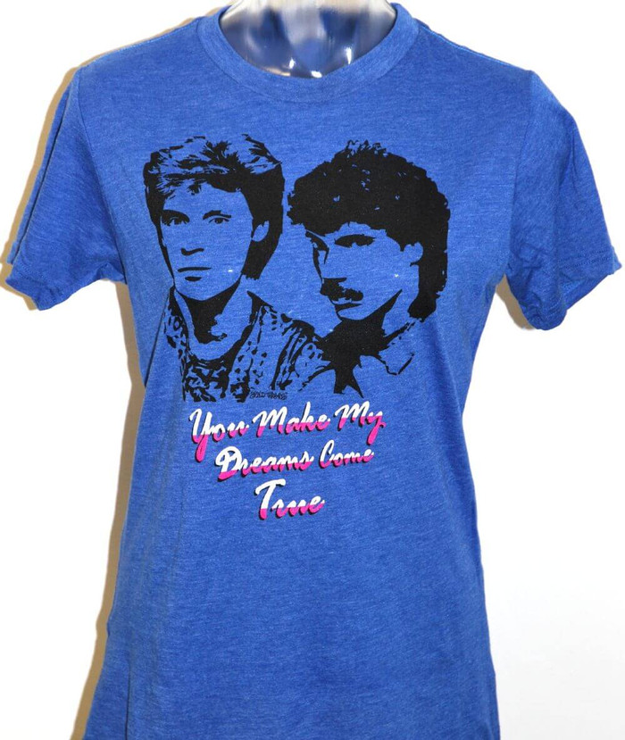 Hall & Oates You Make My Dreams Come True Song Title Women's Blue T-shirt