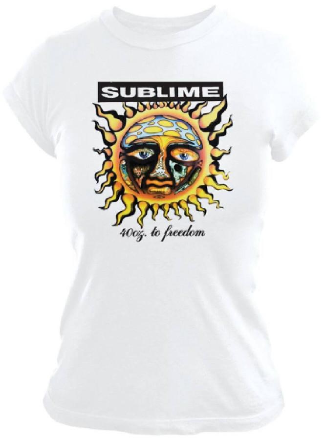 Sublime 40 Oz. To Freedom Debut Album Cover Artwork Women's White T-shirt