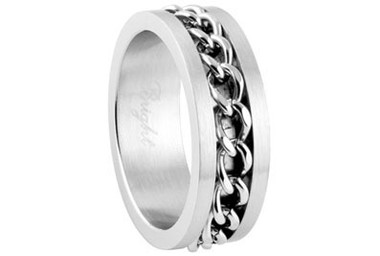 Stainless Steel Motorcycle Chain Link Ring - Top Quality Steel - Gothic Biker Band