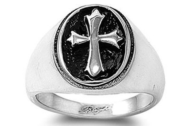 Knights of Templar Cross - 3D Celtic Cross Freemason Ring - 316L Stainless Steel Band