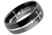 Templar - Black Celtic Cross Ring - Top Quality 316L Stainless Steel Band