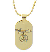 Shiner Pendant - Gold Color Steel with Masonic Order Symbol Necklace with chain