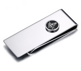 Masonic Money Clip - Stainless Steel with Classic Standard Freemasons Button Symbol