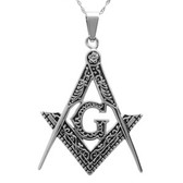 Masonic Pendant - Stainless steel mason with various inner design - Pendants For Freemasons