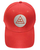 Royal Arch Masonic Baseball Cap - Red Hat w/ Royal Arch Triple Tau Freemasons Symbol One Size Fits Most. Freemason Merchandise, Clothing and Apparel