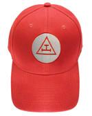 Royal Arch Masonic Baseball Cap - Red Hat w/ Royal Arch Triple Tau Freemasons Symbol One Size Fits Most. Freemason Merchandise, Clothing and Apparel