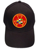 High Priest Masonic Baseball Cap - Black Hat with Colorful High Priest Masonic Symbol - One Size Fits Most Adults. Freemason Merchandise, Clothing and Apparel.