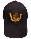 Ancient Egyptian D.O.I Masonic Baseball Cap - Black Hat with Standard D.O.I Freemason Symbol - One Size Fits Most Adults - Daughters...
