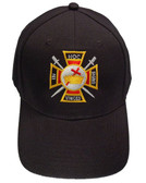 Masons Baseball Cap - Order of the Knights of Templar - Masonic Black Hat with Colorful Symbol - One Size Fits Most Cap for Freemasons