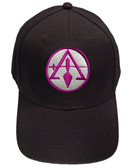Masons Baseball Cap - York Rite - Cryptic Mason - Masonic Black Hat with Purple Symbol - One Size Fits Most Cap for Freemasons