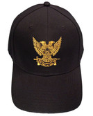 Masons Baseball Cap - Standard Scottish Rite Wings Up - Masonic Black Hat with 32nd degree Symbol - One Size Fits Most Cap for Freemasons