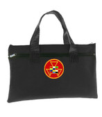 Past High Priest Black Masonic Tote Bag for Freemasons - Colorful Classic Icon on Red Background