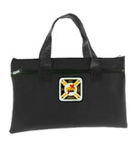Knights of Templar Black Masonic Tote bag for Freemasons - Classic Colorful Icon with In Hoc Signo Vinces text