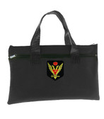 Tote Bag Scottish Rite Wings Up 33rd Degree - Black Masonic Tote bag for Freemasons - Classic Double Headed Crowned Eagle