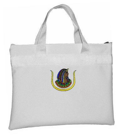 Image of Ancient Egyptian D.O.I - White Masonic Tote bag for Freemasons - Classic Cut Out Shaped Icon Daughters...