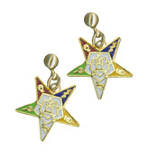 OES Dangling Earrings with Order of the Eastern Star Symbolism - One Pair. Great O.E.S Gift.