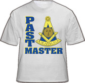 Past Master T-Shirt For Freemasons (White) - Masonic Apparel with both Past master text and iconic logo. Masonic Clothing and Gifts.