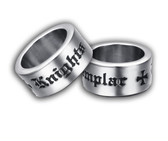 Thick Band - Knights of Templar Freemason Ring / Mason Ring - Masonic Ring with bold unique text and cross. Freemason Jewelry