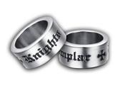 Masonic Knights of Templar Freemason Ring / Mason Ring - Masonic Ring with bold unique text and cross. Freemason Jewelry