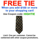 FREE with $100 or more! Coupon Code: HIGHTIE - Get (1) Masonic Neck Tie - Black & Yellow Polyester long tie small duplicated Masonic pattern for Freemason members