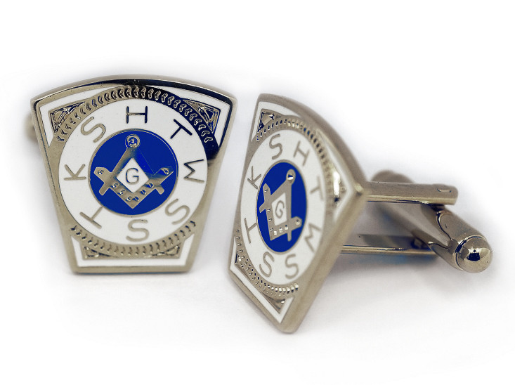 Masonic Cufflinks Steel Masonic Keystone Standard Cufflinks For