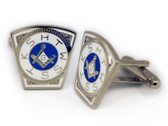 Masonic Cufflinks - Steel Masonic Keystone Standard Cufflinks For Freemasons - Mark Master. Freemason Regalia Merchandise for the Lodge