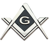 Cut Out Shaped Square and Compass Masonic Car Bumper Emblem  Disc for Freemasons