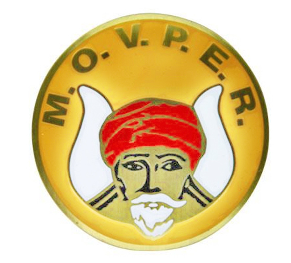 Masonic Car Emblem Grotto Movper Symbol With Yellow