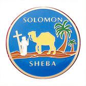 Freemasons Car Emblem / Solomon Sheba - Queen of the South symbolism. Masonic car bumper decal with blue background for Freemasons