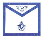 Masonic Lodge Regalia International Mason Key. Masonic Blue Lodge White and Blue Duck Cloth Apron For Freemasons - Compass, Square All seeing eye. Masonic Apparel Merchandise.