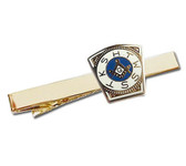 Masonic Mark Master Keystone Tie Clip / Tie Bar - Gold Color with Royal Arch Freemasons Symbol