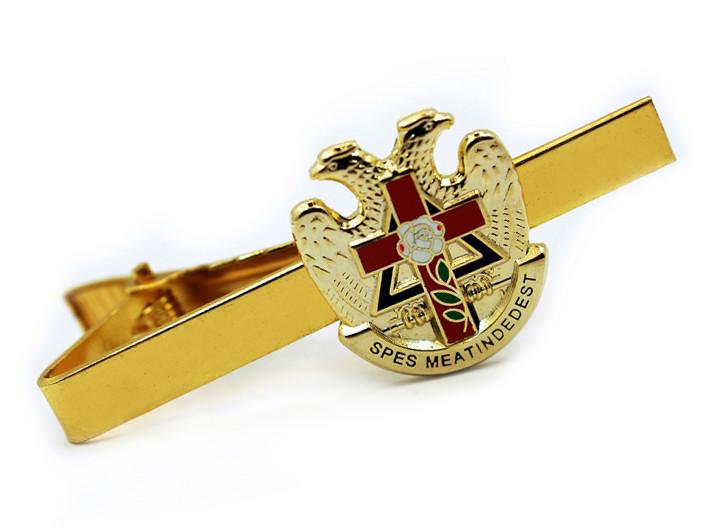 Scottish Rite Masonic Eagles And Cross Tie Clip Tie Bar Gold
