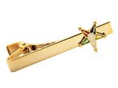 Masonic O.E.S. Tie Clip / Tie Bar - Gold Color with Classic Order Of The Eastern Star Symbol