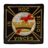 Classic In Hoc Signo Vinces text and Symbolism for Freemason patch
