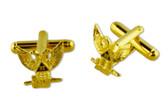Scottish Rite 32nd Degree - Wings Up (Bald Eagles) - Masonic Cufflinks - Gold tone with color enamel - Classic Freemasons Symbol. Masonic Regalia Merchandise for the Lodge