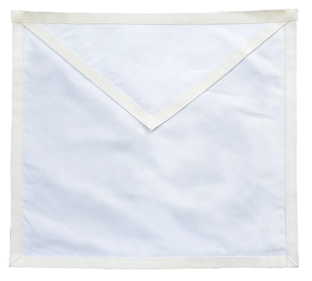 Masonic aprons candidate entered apprentice apron for for Cheap plain white wallpaper