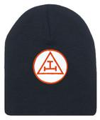 Royal Arch Masonic Beanie Cap. Black Winter Hat - Triple Tau Royal Arch Freemasons Symbol One Size Fits Most. Freemason Clothing Apparel and Merchandise