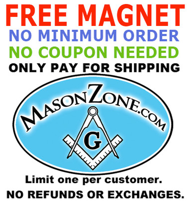 Image of 1 FREE Magnet - Just pay for shipping - No Minimum Order Required - No Coupon Code Needed! Mason Zone Oval Car Magnet (3 x 5) - Limit One per Customer.