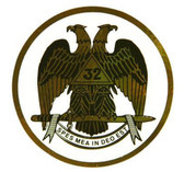 Freemason's Car Window Sticker Decal - Scottish Rite 32nd Degree - Masonic Car Emblem with colorful eagle logo