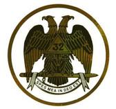 Freemason's Car Window Sticker Decal - Scottish Rite 32nd Degree - Masonic Car Emblem with colorful eagle logo