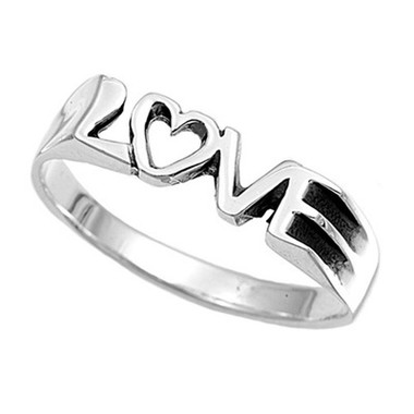 Womens Love Ring - Top Quality Silver Purity Commitment Ring for lovers. (Ladies)