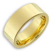 Men's Tungsten Ring (14K Gold Plated 8MM band). Also great as a men's wedding ring band.